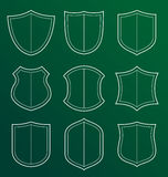 Collection of shield icon Royalty Free Stock Photography