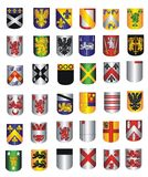 A collection of Shields Royalty Free Stock Photography