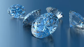 Collection of shiny diamonds Stock Photography
