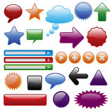 Collection shiny web elements Royalty Free Stock Image
