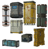 Collection of shipping crates Stock Photography