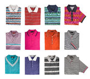 Collection shirts Royalty Free Stock Photos