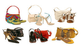 Collection shoes and bag Royalty Free Stock Photography