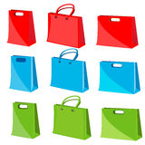 Collection of shopping bag Royalty Free Stock Photography