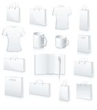 Collection of shopping bags, football jersey vector illustration