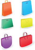 Collection of shopping bags. Vector illustration Stock Photos