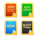 Collection of shops emblems 3d vector illustration Stock Photography