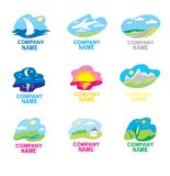 Collection of signs. Travel and nature vector illustration