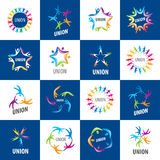 Collection of signs alliances Stock Photo