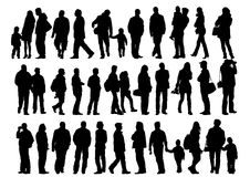 Collection of silhouettes Stock Image