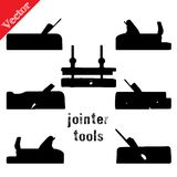 Collection of silhouettes woodworking tools Royalty Free Stock Images