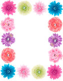 Collection of Silk Flowers Stock Photography