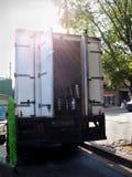 Big Kegs in Box Truck Stock Image