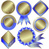 Collection of silvery medals Stock Photography