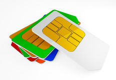 Collection SIM cards. Three-dimensional Shape royalty free illustration