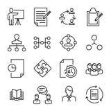 Collection simple de ligne relative agile icônes de bousculade Photo libre de droits