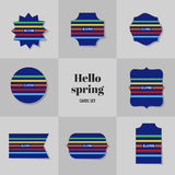 Collection Simple Rectangle for Hello Spring cards Royalty Free Stock Photography