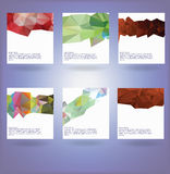 Collection of six abstract triangle backgrounds Stock Photography