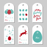 Collection of six Easter gift tags Royalty Free Stock Photography