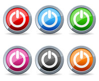 Colorful Power Web Buttons Royalty Free Stock Photos