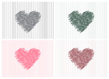 Collection of sketch hearts,Vector illustration. Royalty Free Stock Photography