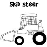 Collection skid steer hand draw Royalty Free Stock Photography