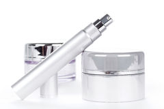 Collection of skincare spa products Stock Photos