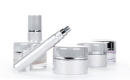 Collection of skincare spa products Royalty Free Stock Image