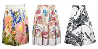Collection skirts Royalty Free Stock Photo