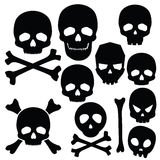 Collection of skulls isolated on white Stock Image