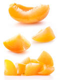 Collection of slice apricots Royalty Free Stock Photography