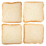 Collection of slices of bread Royalty Free Stock Images