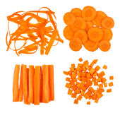 Collection of slices of carrot Royalty Free Stock Photo