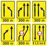 Collection of Slovenian Guide Road Signs Stock Photos