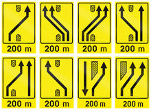 Collection of Slovenian Guide Road Signs Royalty Free Stock Photos
