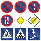 Collection of Slovenian Regulatory Road Signs Royalty Free Stock Image