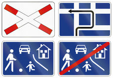 Collection of Slovenian Warning Road Signs Stock Photography