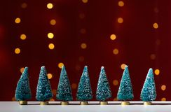 Collection of small Christmas trees