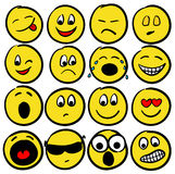 Collection of smiles Royalty Free Stock Photo