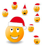Collection of smiles. New Year's and Christmas collection of illlustrations Royalty Free Stock Photos