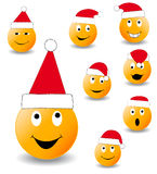 Collection of smiles. New Year's and Christmas collection of illlustrations vector illustration