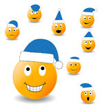 Collection of smiles. New Year's and Christmas collection of illlustrations Stock Photos