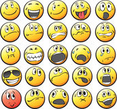 Collection of smiley faces vector illustration