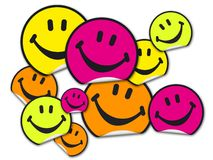 Collection of smiley stickers stock illustration