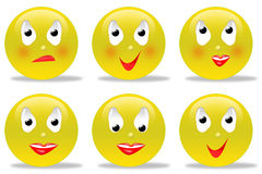 Collection of smileys Stock Photo
