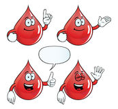 Smiling blood drop set Royalty Free Stock Image