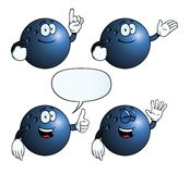Smiling bowling ball set Royalty Free Stock Photography