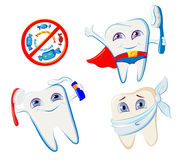 Collection of smiling teeth Stock Photos