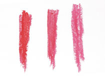 Collection of smudged lipsticks Royalty Free Stock Image