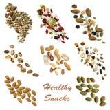 Collection Snacking saine de nourriture images libres de droits
